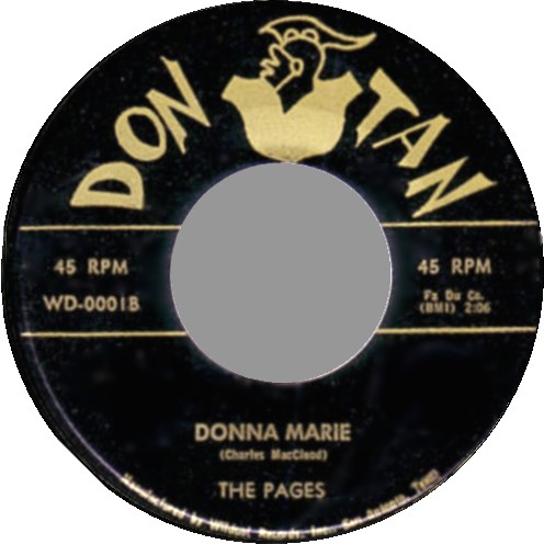 THE PAGES - Donna Marie / The Wind - 45T (SP 2 titres)