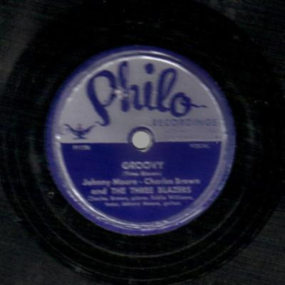 JOHNNY MOORE'S THREE BLAZERS W/ CHARLES BROWN - Drifting Blues / Groovy - 78 rpm