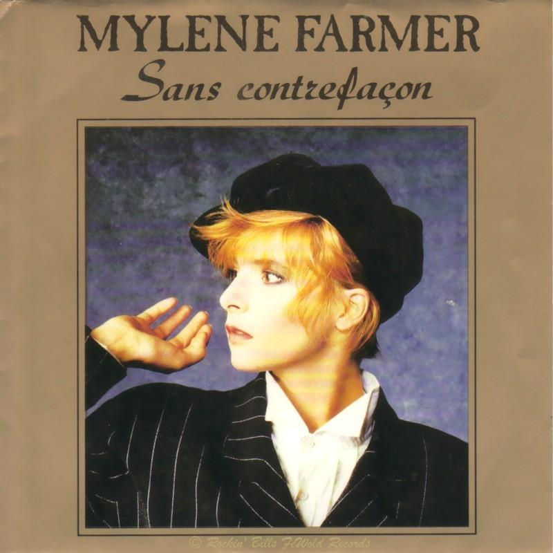 MYLENE FARMER - Sans Contrefaçon / La ronde Triste - 45T (SP 2 titres)