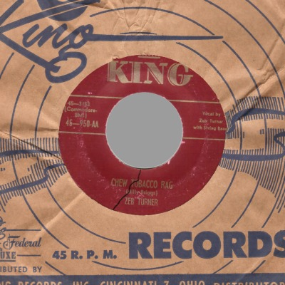 Turner,Zeb Chew+Tobacco+Rag+/+No+More+Nothing 45RPM