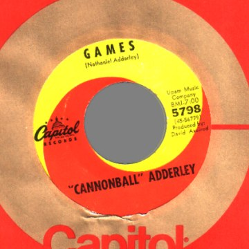 Adderley,Cannonball Games / Mercy, Merc, Mercy 45RPM