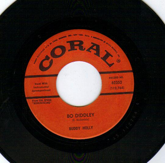BUDDY HOLLY - Bo Diddley / True Love Ways - 45T (SP 2 titres)