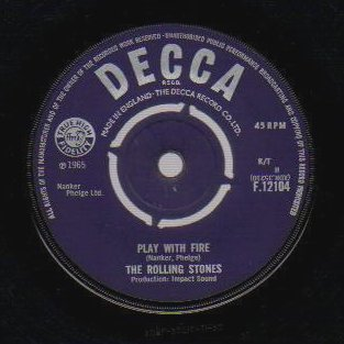 THE ROLLING STONES - The Last Time / Play With Fire - 7inch (SP)