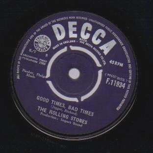 THE ROLLING STONES - Its All Over Now / Good Times Bad Times - 7inch (SP)