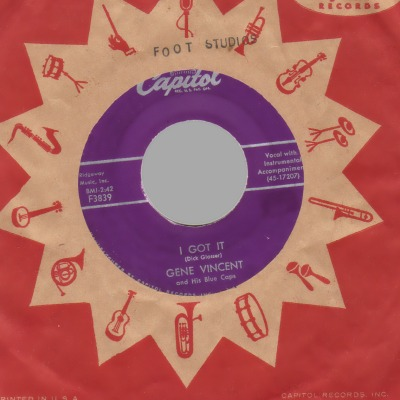 GENE VINCENT - I Got It / Dance To The Bop - 45T (SP 2 titres)
