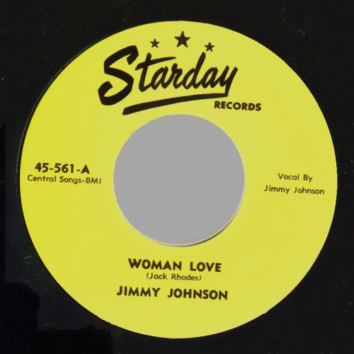JIMMY JOHNSON - Woman Love / All Dressed Up - 45T (SP 2 titres)