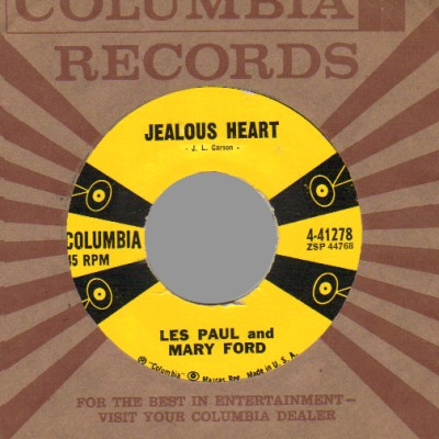 Jealous Heart / Big Eyed Gal - Les Paul &amp; Mary Ford