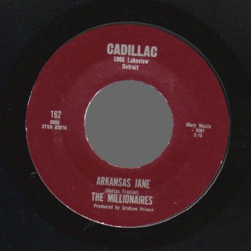 THE MILLIONAIRES - Arkansas Jane / Careless Hands - 45T (SP 2 titres)