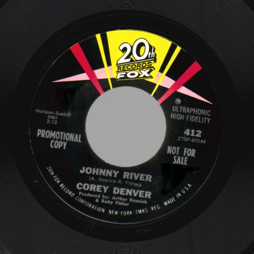 COREY DENVER'S REBELS - Johnny River / Johnny River Theme - 45T (SP 2 titres)