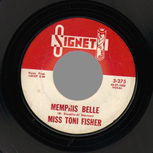 Miss Toni Fisher The Big Hurt / Memphis Belle