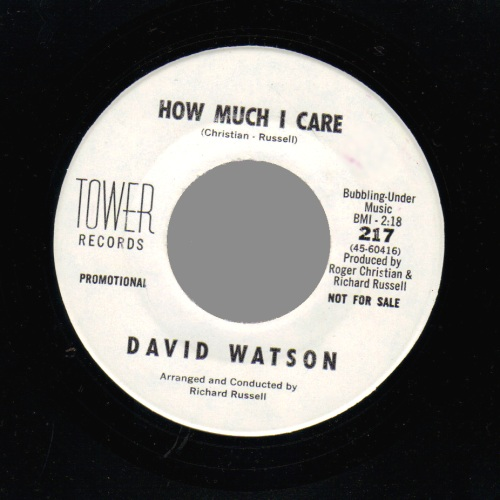 David Watson How Much I Care / Please Won't You Stay