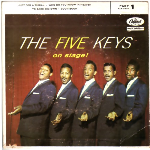 THE FIVE KEYS - On Stage Vol. 1 - 45T (EP 4 titres)