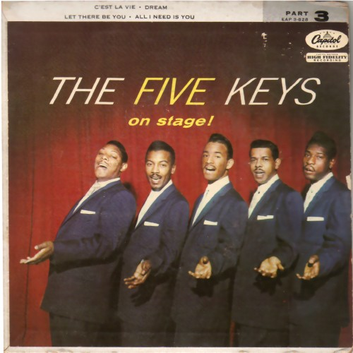 THE FIVE KEYS - On Stage Vol. 3 - 45T (EP 4 titres)