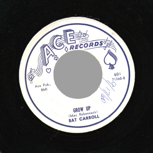BAT CARROLL - Grow Up / A Different Kind of Love - 45T (SP 2 titres)