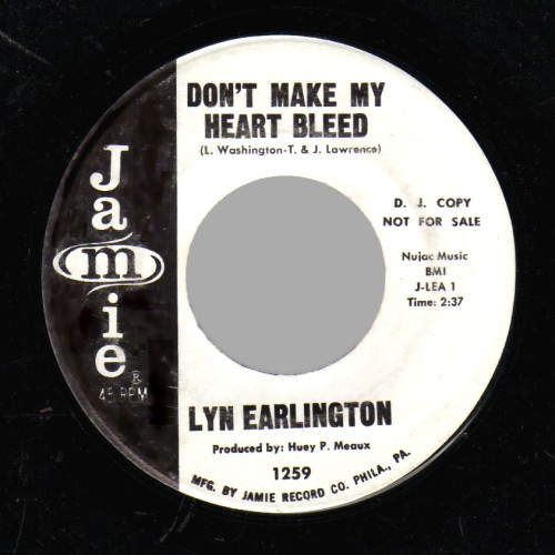 LYN EARLINGTON - I Really Go for You / Don't Make My Heart Bleed - 45T (SP 2 titres)