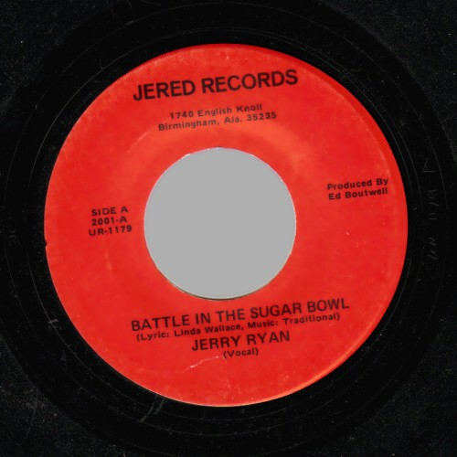 JERRY RYAN - Battle in the Sugar Bowl / The Little Blue Nun - 45T (SP 2 titres)