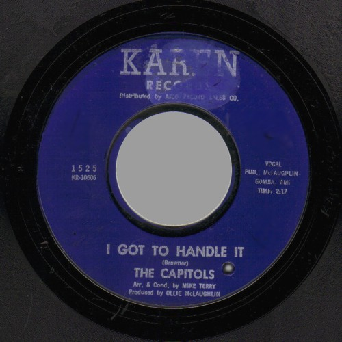THE CAPITOLS - Zig-zagging / I Got to Handle It - 45T (SP 2 titres)