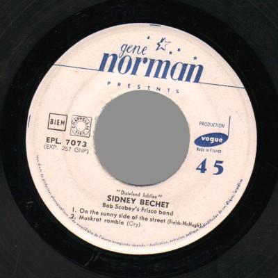 SIDNEY BECHET - Gene Norman presents  'Dixieland Jubilee' - 45T (EP 4 titres)