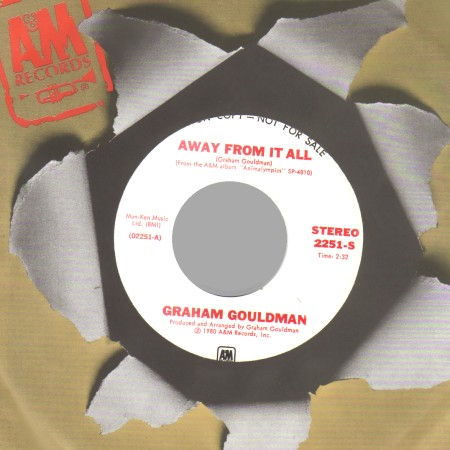 GRAHAM GOULDMAN - Away From it all  (mono b/w stereo) - 45T (SP 2 titres)
