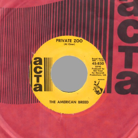 THE AMERICAN BREED - Private Zoo / Keep the faith - 45T (SP 2 titres)