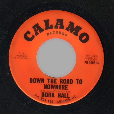 DORA HALL - Franklin street / Down the road to nowhere - 45T (SP 2 titres)