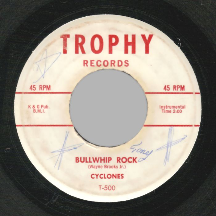 BILL TAYLOR & CYCLONES - Nelda Jane / Bullwhip Rock - 45T (SP 2 titres)