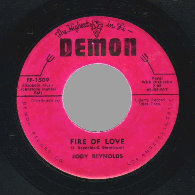 JODY REYNOLDS - Daisy Mae / Fire Of Love - 45T (SP 2 titres)