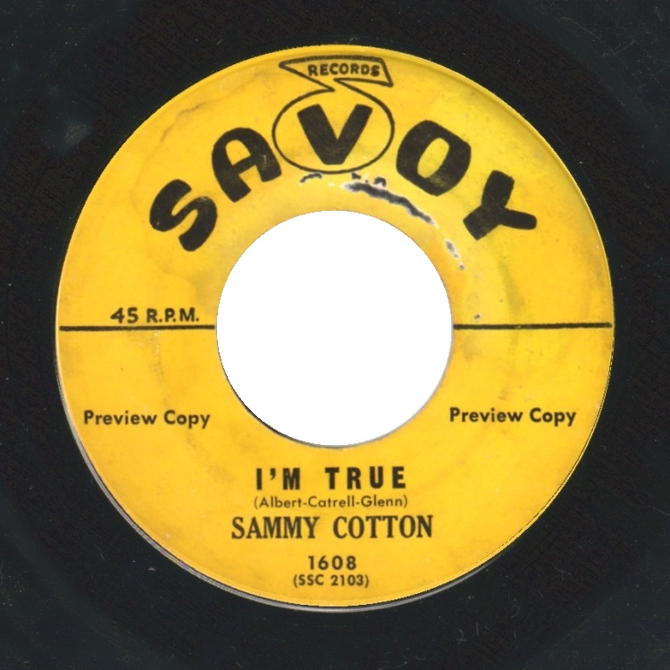 SAMMY COTTON - Nobody / I'm True - 45T (SP 2 titres)