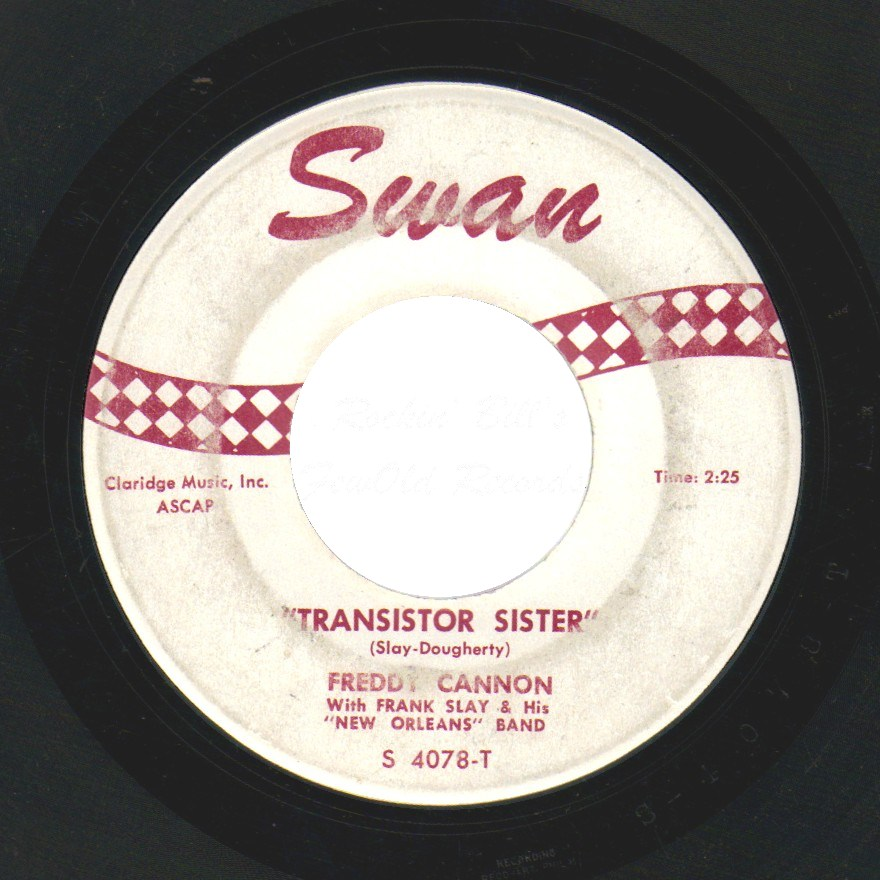 FREDDY CANNON - Transistor Sister / Walk To The Moon - 45T (SP 2 titres)