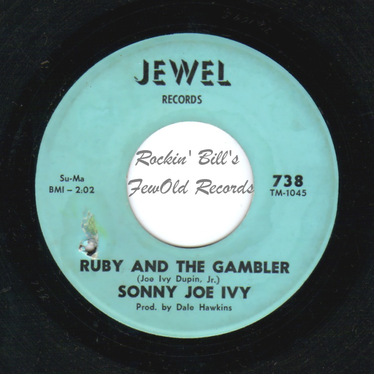 SONNY JOE IVY - Ruby And The Gambler / Please, Please Bartender - 45T x 1