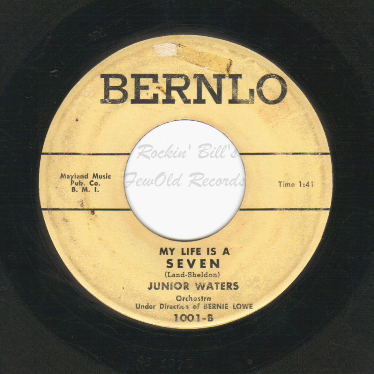 JUNIOR WATERS - I Wonder, I Wonder, I Wonder / My Life is a Seven - 45T (SP 2 titres)