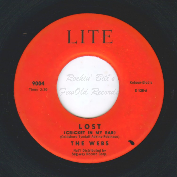 THE WEBS - Lost (Cricket In My Ear) / Blue Skies - 45T (SP 2 titres)