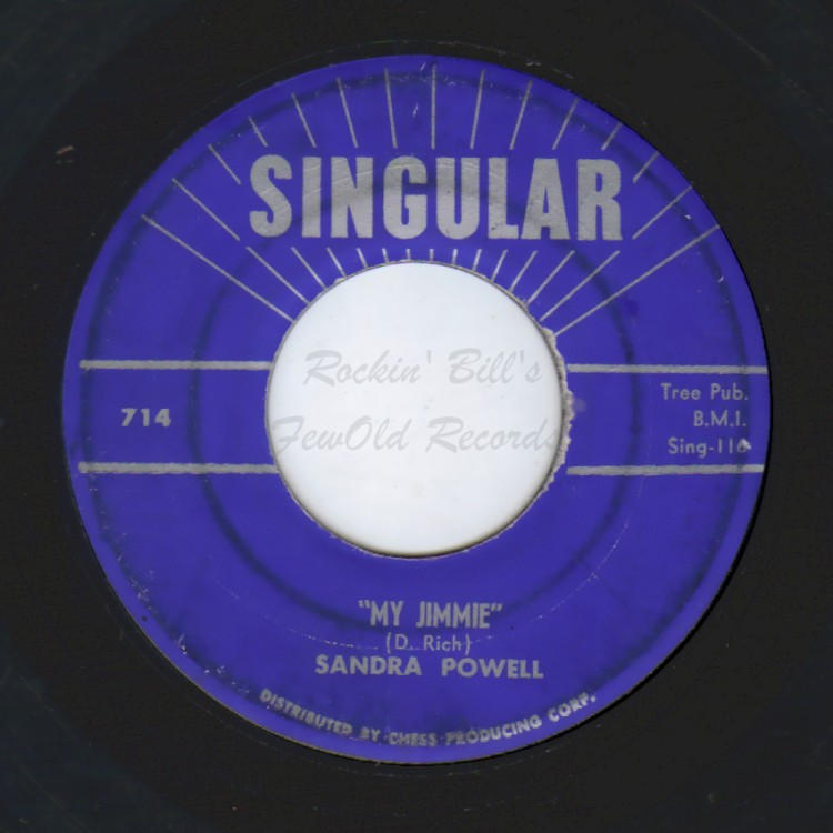 SANDRA POWELL - My Jimmie / Next Thing To Paradise - 45T (SP 2 titres)
