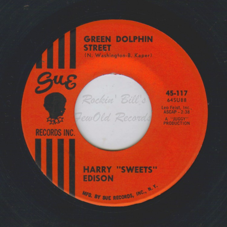 HARRY 'SWEETS' EDISON - Green Dolphin Street / Blues For Christine - 45T (SP 2 titres)