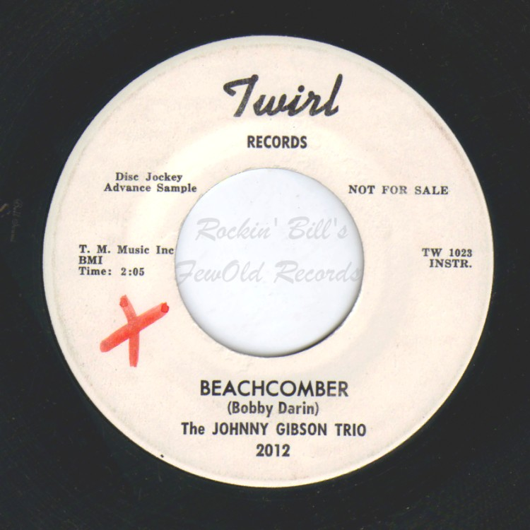 JOHNNY GIBSON TRIO - Beachcomber / Swanky - 45T (SP 2 titres)