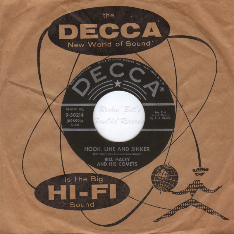BILL HALEY & THE COMETS - Forty Cups Of Coffee / Hook Line And Sinker - 45T (SP 2 titres)
