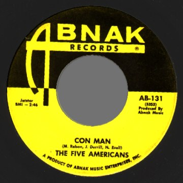 THE FIVE AMERICANS - Con man / Lovin' Is Livin' - 7inch (SP)