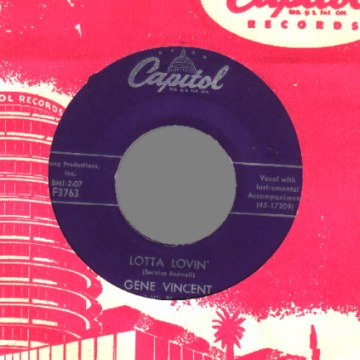 GENE VINCENT - Wear My Ring / Lotta Lovin' - 45T (SP 2 titres)