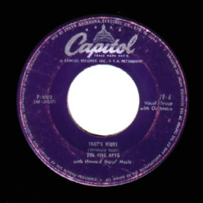 THE FIVE KEYS - That's Right / Out Of Sight Out Of Mind - 45T (SP 2 titres)
