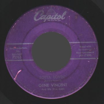GENE VINCENT - Lotta Lovin' / Wear My Ring - 45T (SP 2 titres)