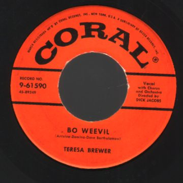 Brewer,Teresa Bo+Weevil+/+A+Tear+Fell 45RPM