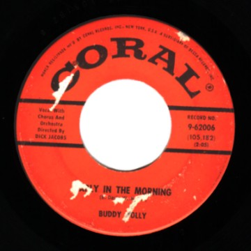BUDDY HOLLY - Early In The Morning / Now We're One - 45T (SP 2 titres)