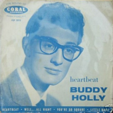 BUDDY HOLLY - Heartbeat - 45T (EP 4 titres)