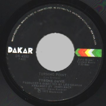 Tyrone Davis - Don't Let It Be Too Late / Turning Point Record