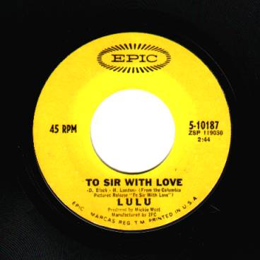 Lulu To+Sir+With+Love+/+The+Boat+That+I+Row 45RPM
