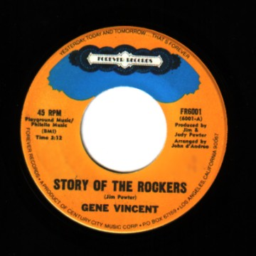 GENE VINCENT - Story of the rockers / Pickin' poppies - 45T (SP 2 titres)