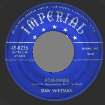 Slim Whitman - Rose-marie / We Stood At The Altar