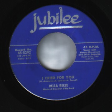 Reese,Della I+Cried+For+You+/+And+That+Reminds+Me 45RPM
