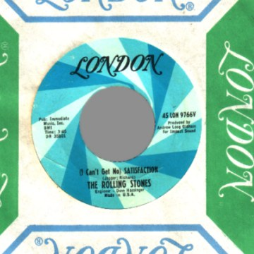 THE ROLLING STONES - (i can't get no) Satisfaction / The Under Assistant West Coast Promotion Man - 45T (SP 2 titres)