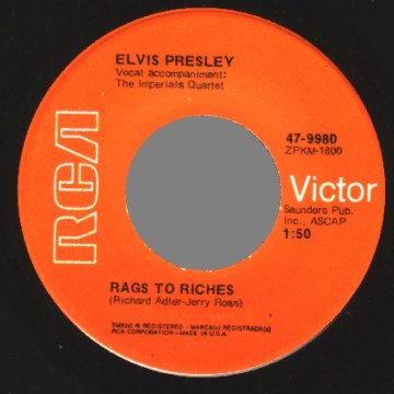Elvis Presley - Where Did They Go Lord / Rags To Riches